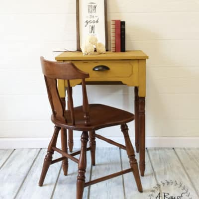 A Sewing Desk and Milk Paint