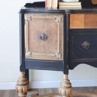 How to Fix Damaged Veneer for Paint – The Victorian Buffet in Black