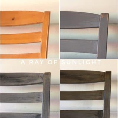 Restoration Hardware Weathered Finish with Paint