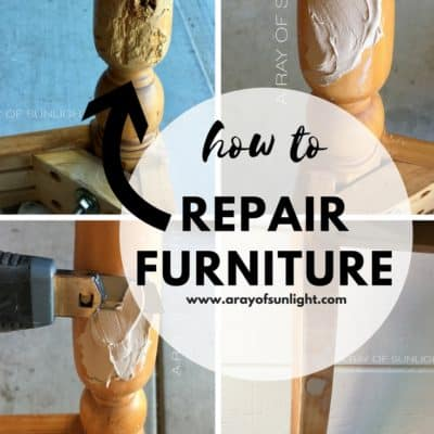 How to Repair Damaged Furniture