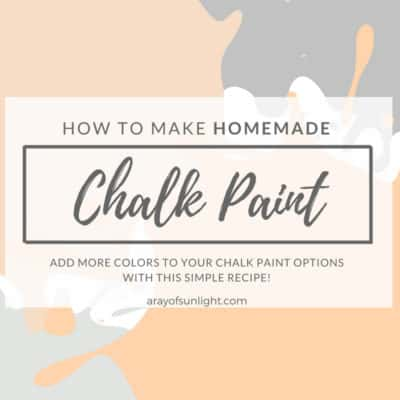 Chalk Paint Recipe for Latex Paint