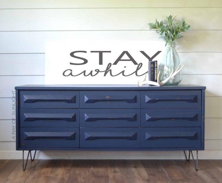 Farmhouse Modern Midnight Blue Dresser