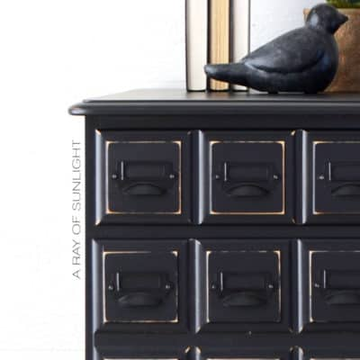 Apothecary Style Nightstands in Liquorice