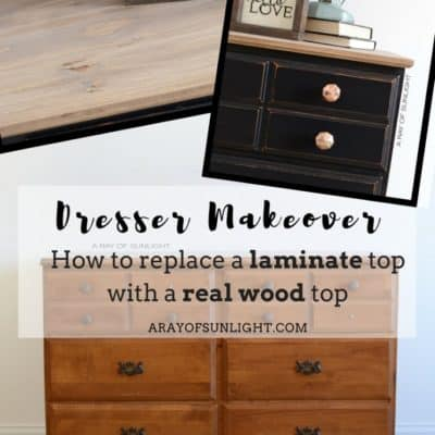 Black Vintage Farmhouse Dresser