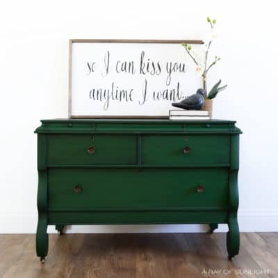 Green Empire Dresser