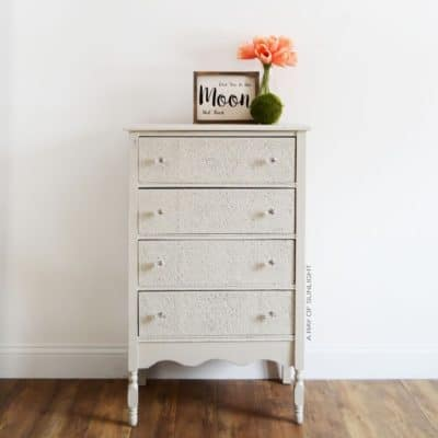 How to Add Raised Embossing to Painted Furniture