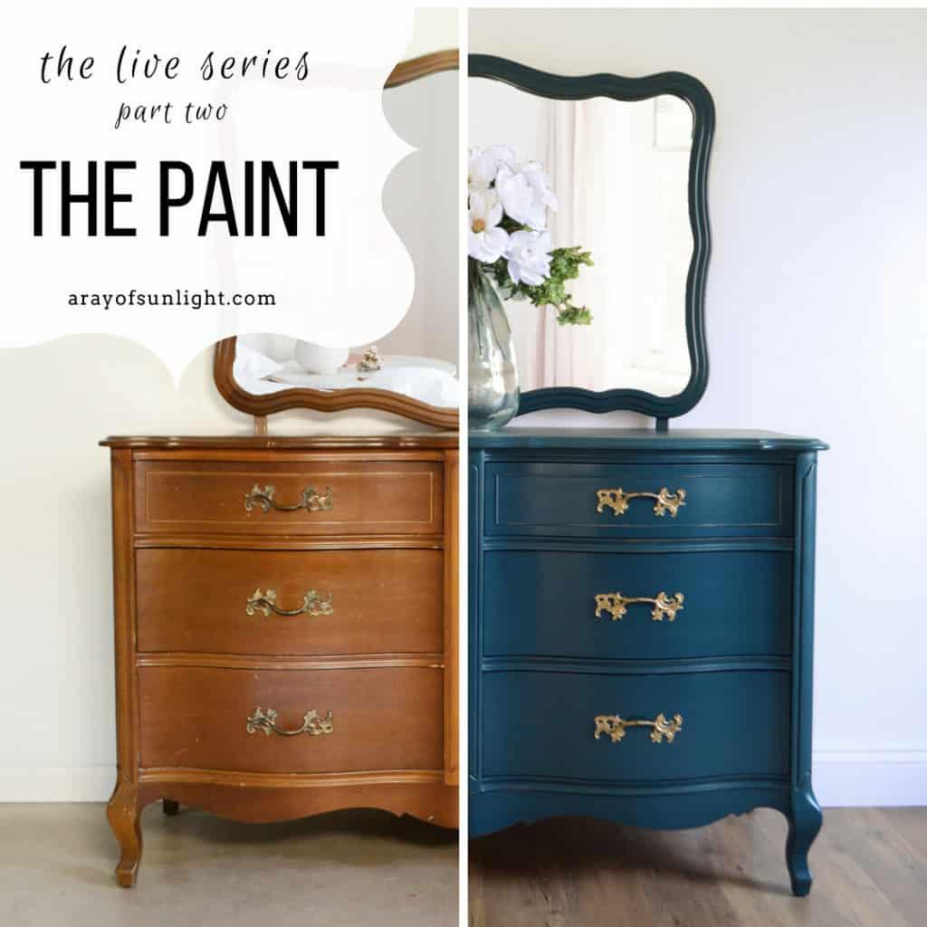 Using A Paint Sprayer To Paint A Dresser Video Series