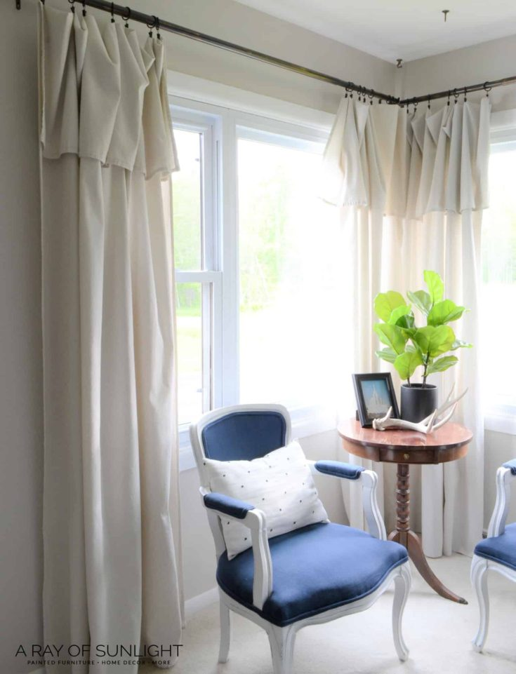 How to Make Farmhouse Drop Cloth Curtains