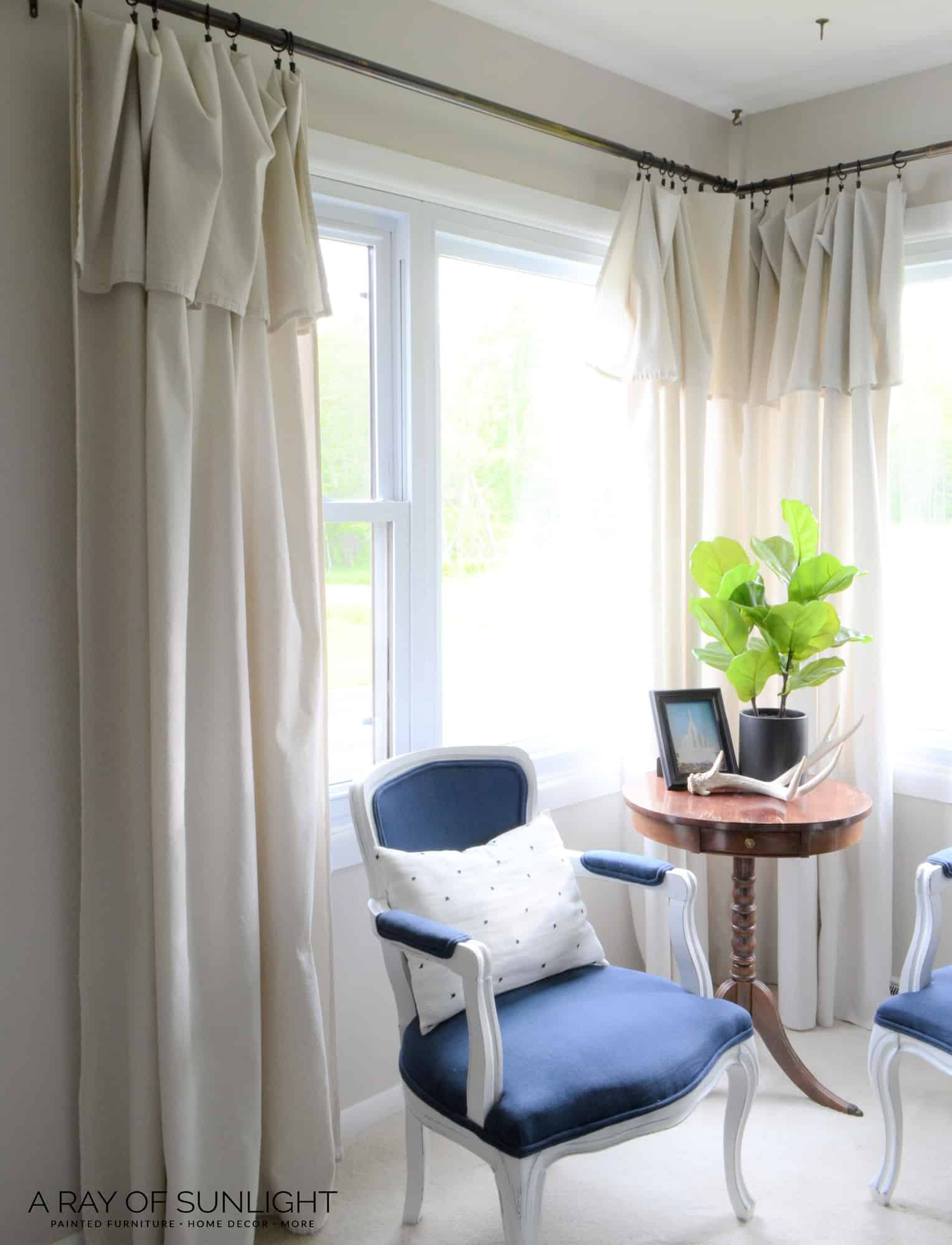Farmhouse Drop Cloth Curtains A Ray Of Sunlight