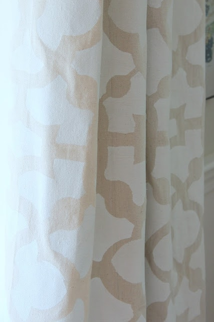 Stenciled Drop Cloth Farmhouse Curtains
