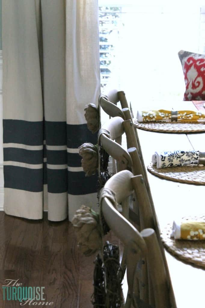 Painted Stripe Drop Cloth Curtains