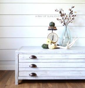 DIY Farmhouse Coffee Table Free Plans Ana White Printmaker's Whitewashed finish