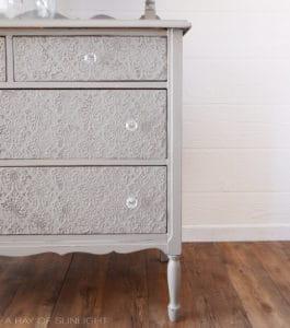 Empire Gray Glass Knobs Dresser