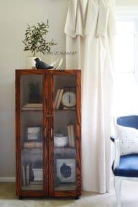 Gun Cabinet transformed into a Modern Farmhouse Cabinet - The Farmhouse Cabinet Makeover by A Ray of Sunlight 1