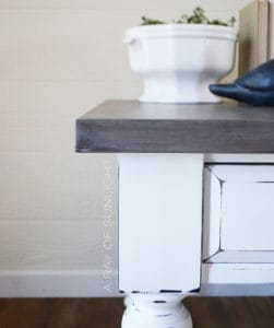 Weathered Wood Farmhouse End Tables