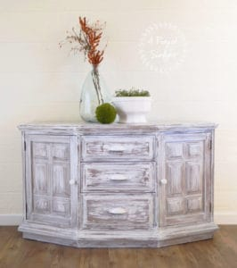 White Washed Stanley Furniture Buffet Cabinet by A Ray of Sunlight