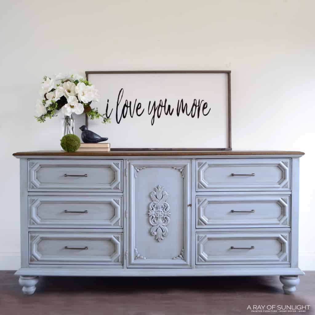 Light Blue Painted Dresser