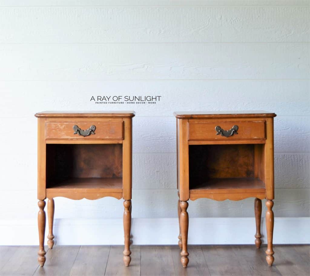 Matching Pair of Vintage Nightstands with Drawer by A Ray of Sunlight