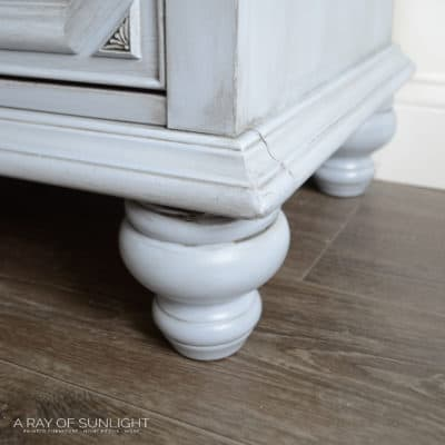 How to Add Legs to Vintage Furniture the Easy Way By A Ray of Sunlight