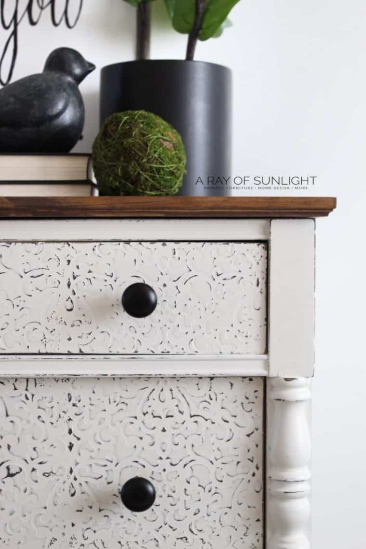 How to Stencil Furniture with a Raised Texture
