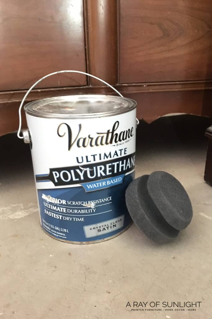 The best way to seal your chalk painted furniture. Including Annie Sloan Chalk Paint! Don't use wax, use poly! Even over white paint, this poly doesn't turn yellow like the other ones. And how to paint on poly without getting brush strokes or a haze.