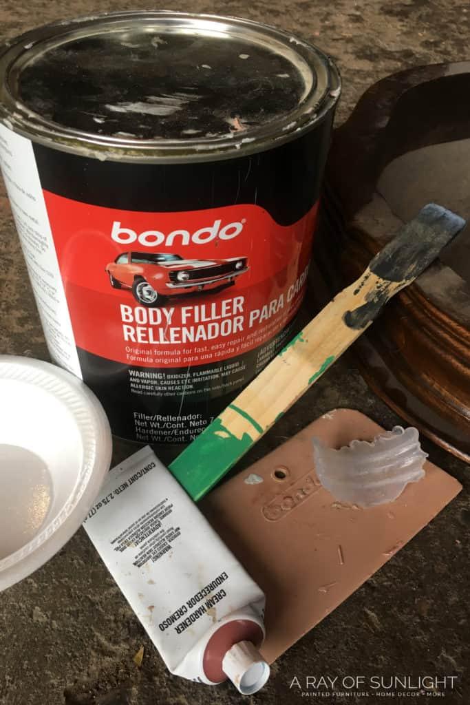 Supplies for repairing broken trim