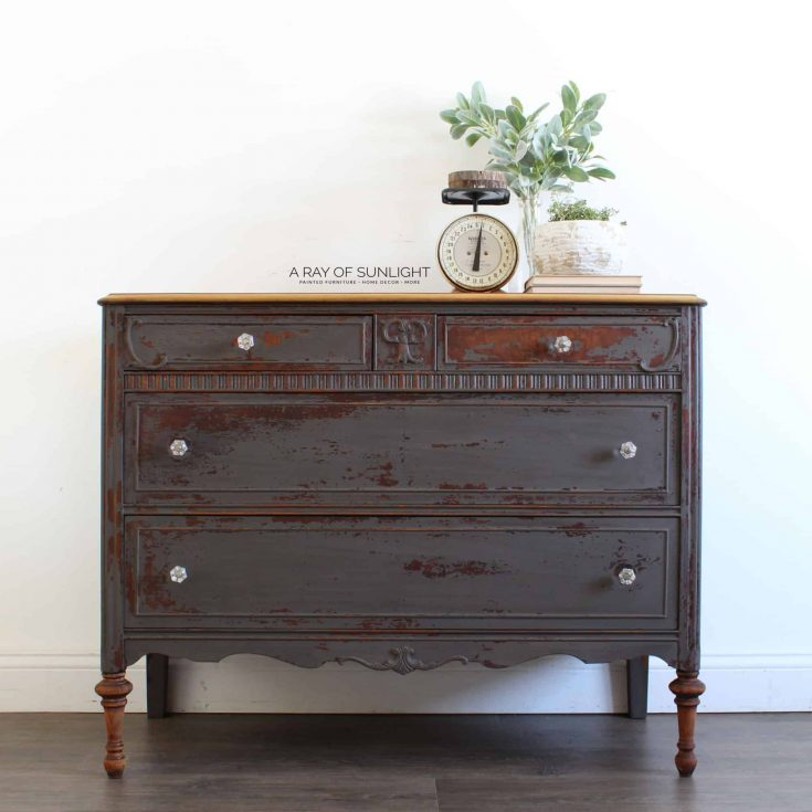 The Chippy Gray Milk Paint Dresser