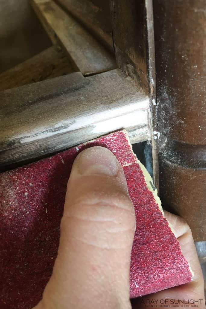 Sanding bondo mold smooth
