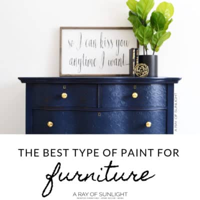 The best type of paint for furniture