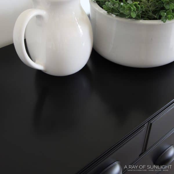 Black Painted Farmhouse Dresser with Cup Pulls