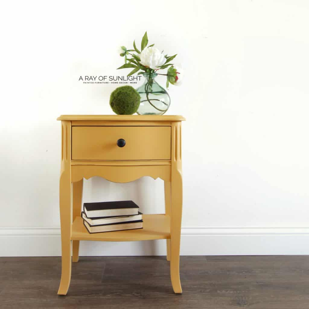 The Mustard Yellow Nightstand Sold Out A Ray Of Sunlight