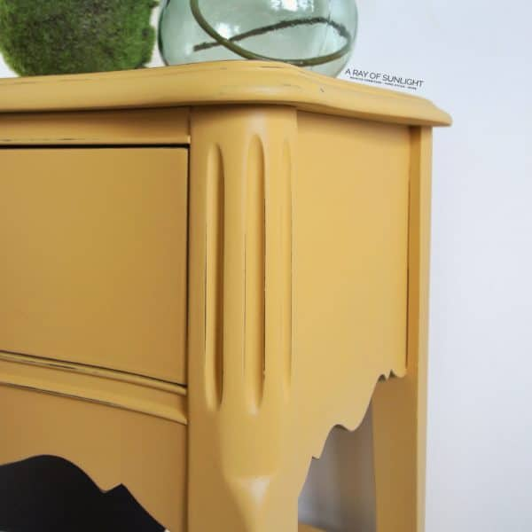 Mustard Yellow Painted End Table