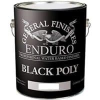 General Finishes Water Based Black Poly, 1 Gallon, Satin