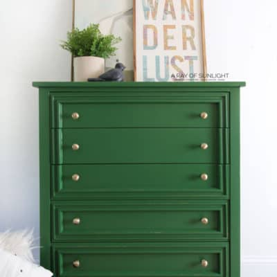 Green Painted Dresser Makeover