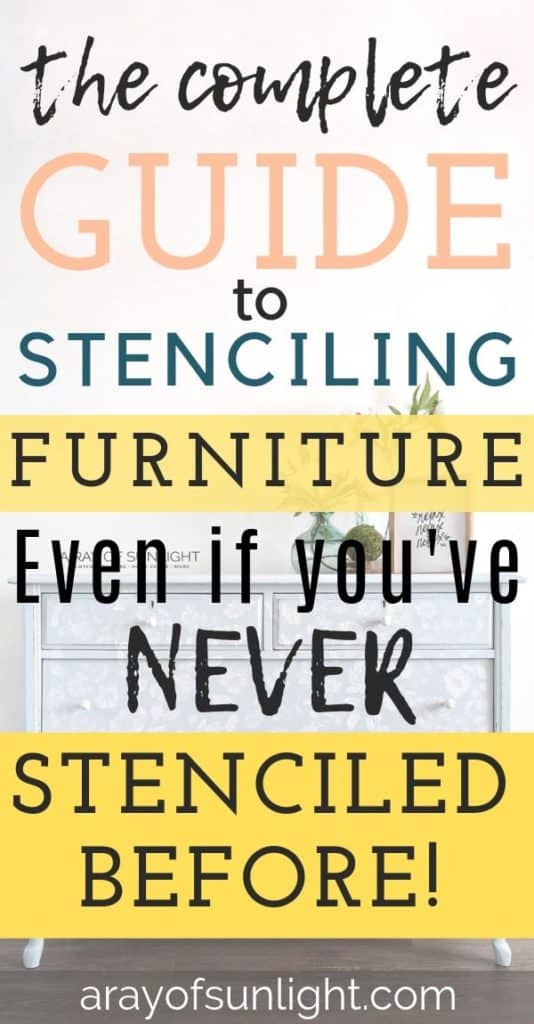 """the complete guide to stenciling furniture."""