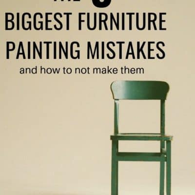 """5 biggest furniture painting mistakes"" with painted chair"