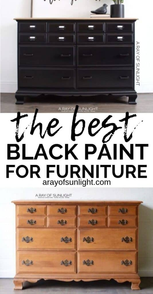 The best black paint for furniture with before and after photos
