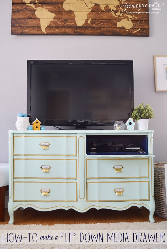 How-To Make a Flip Down Media Drawer