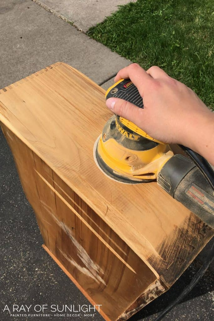 Fix drawers by sanding down the sides