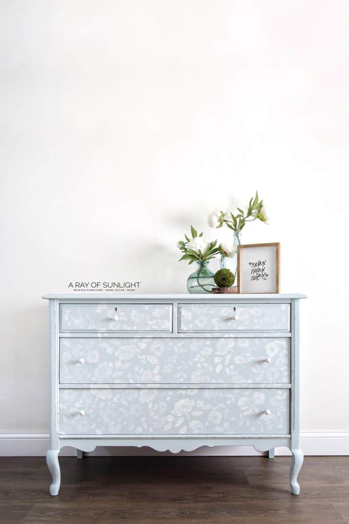 Blue Dresser Painted with Fusion Mineral Paint