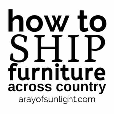 how to ship furniture across the country