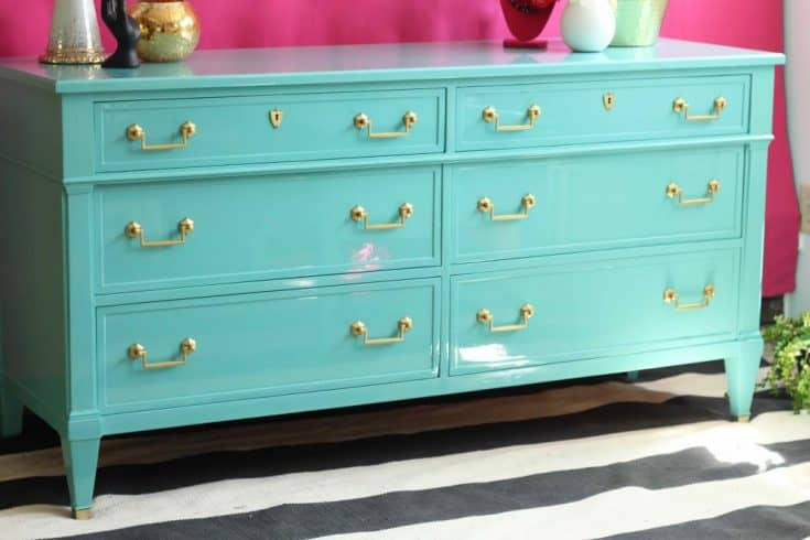 High Gloss Turquoise Dresser