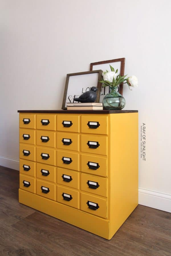 card catalog dresser or nightstand