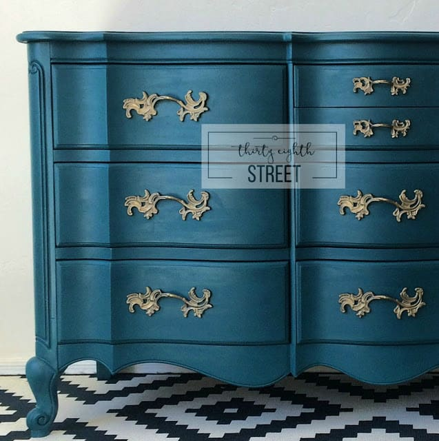 Painted Dresser in Peacock Blue!