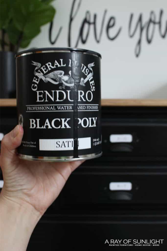 General Finishes Enduro Black Poly