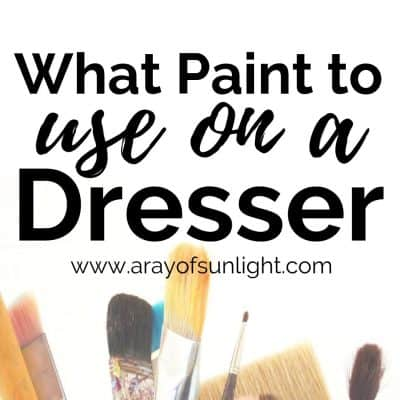 What Paint to Use on a Dresser