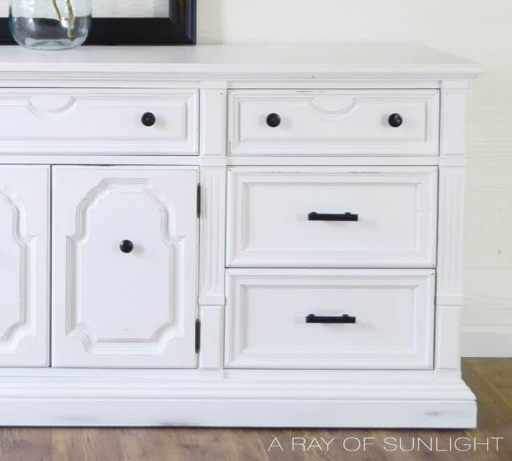 The White Thomasville Dresser Makeover