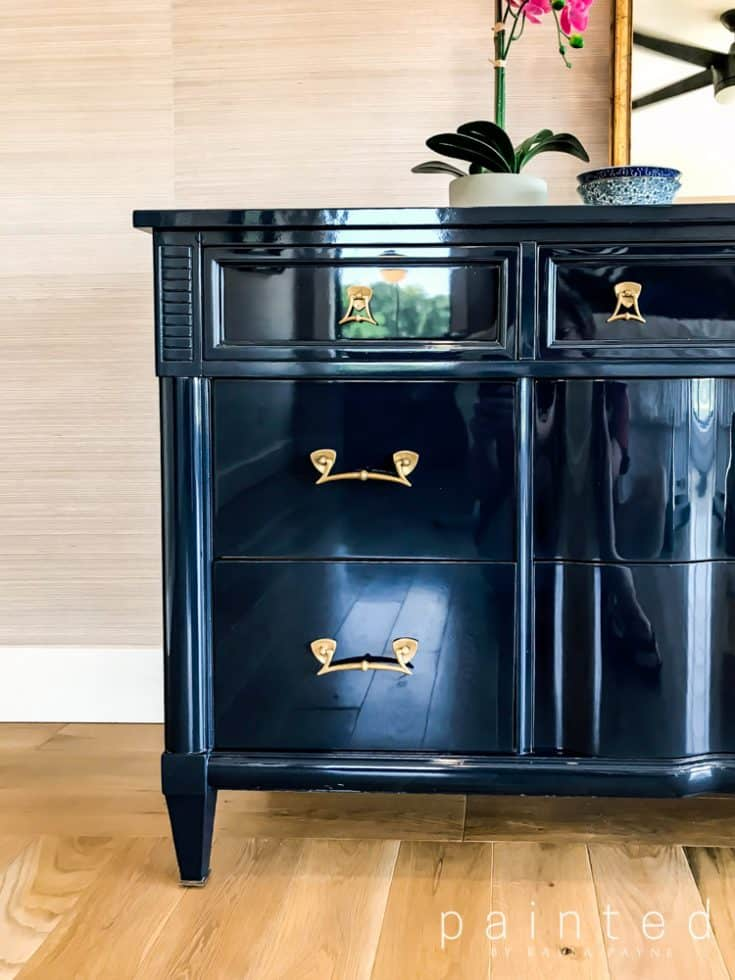 High Gloss Paint Finish With Fine Paints of Europe - Painted Furniture