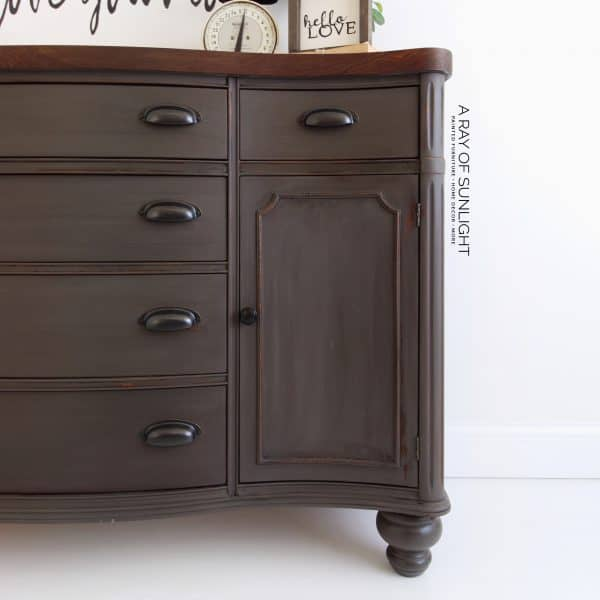 grey painted buffet