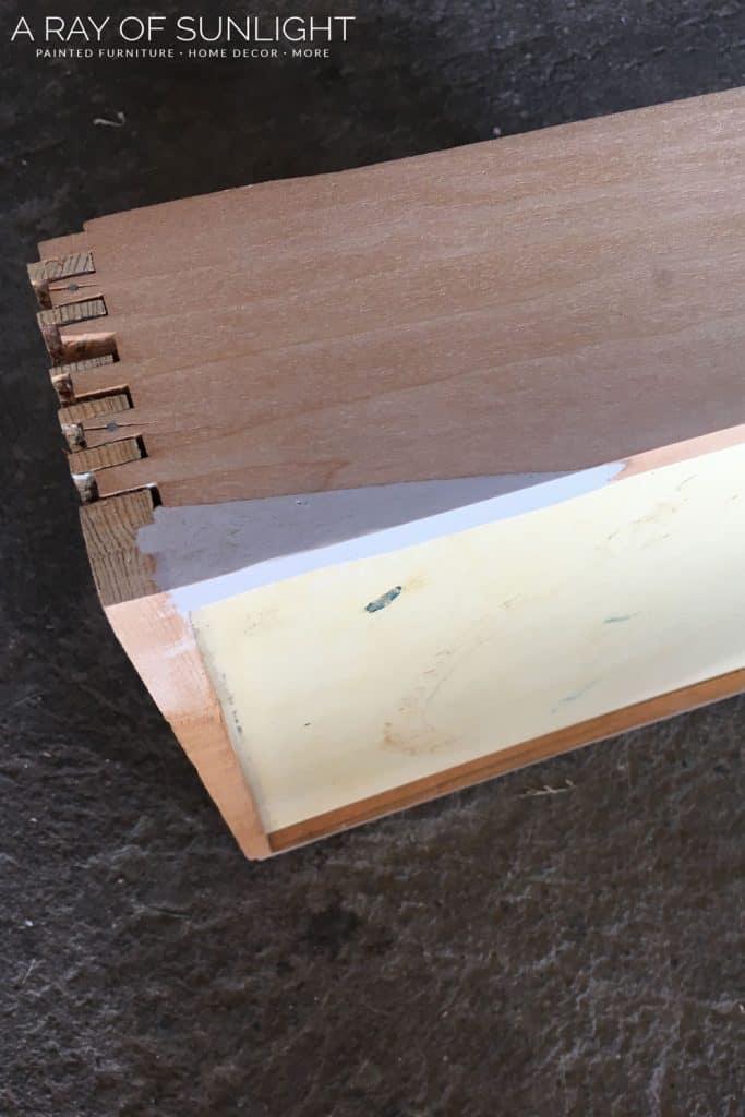 Drawer fixed with kwikwood